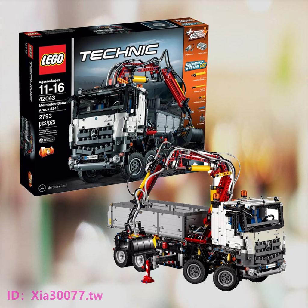 【熱銷】LEGO樂高積木科技機械組奔馳重型卡車42043電動益智動力馬達玩具【新品下殺】