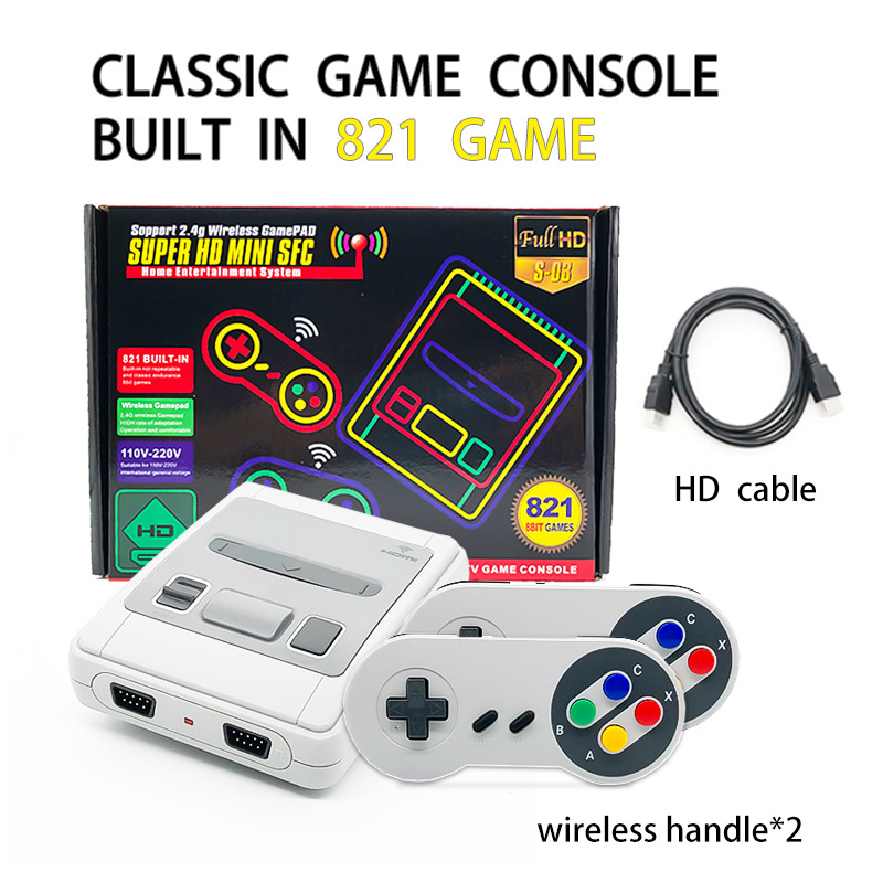 【免運】super console X復古遊戲機 SUPER NES HDMI高清無線遊戲機 紅白機雙人內置821款遊戲
