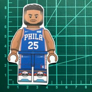 防水貼紙-Ben Simmons #NBA-LEGO #76人 #PVC防水貼紙 #珍珠霧膜防刮