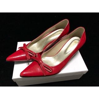 紅色尖頭蝴蝶結高跟鞋 大尺碼26.5號 高雄市