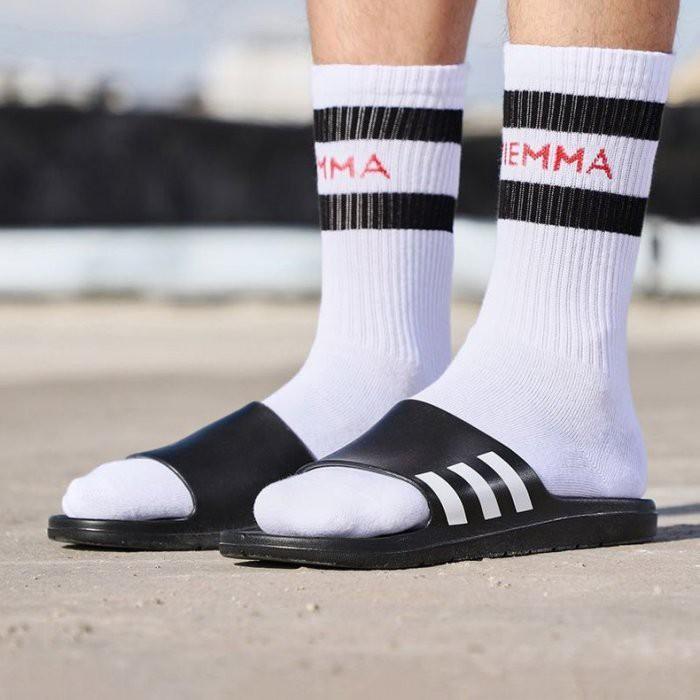 ADIDAS ADILETTE 運動拖鞋 黑白 三條線 一體成形 軟底 防水 舒適 男鞋 CG3540