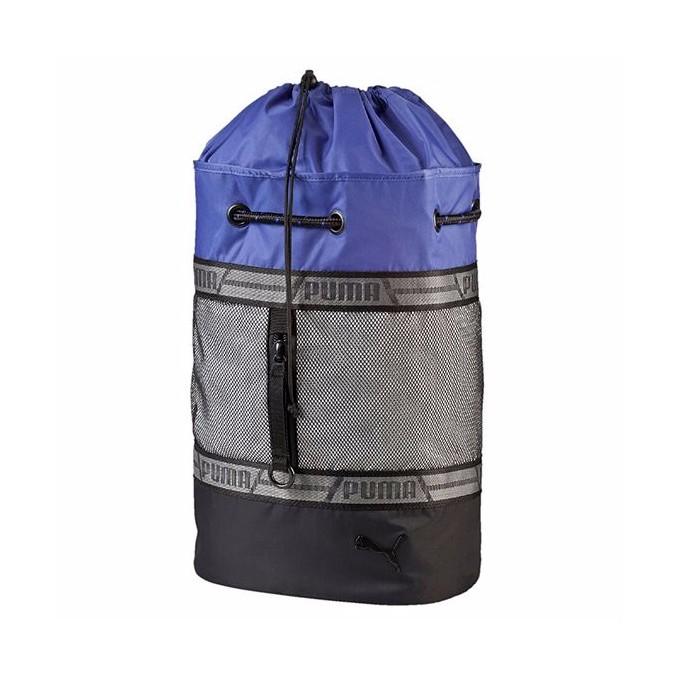 PUMA  Combat 拉繩運動袋-黑/灰/紫 074473-01
