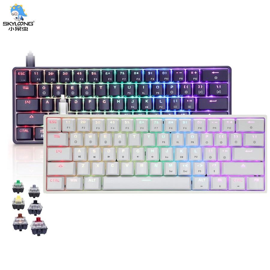 【天窗】 Sk61 GK61 光學開關鍵盤機械鍵盤 61 鍵 USB 有線版本 / 藍牙 5.1 + USB 雙模電腦配