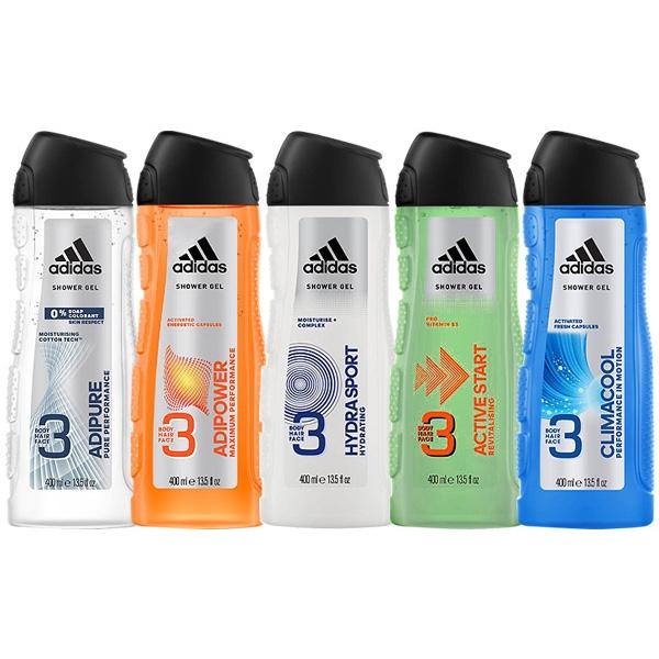 Adidas 愛迪達 男用三效潔顏洗髮沐浴露(400ml)【小三美日】D412259