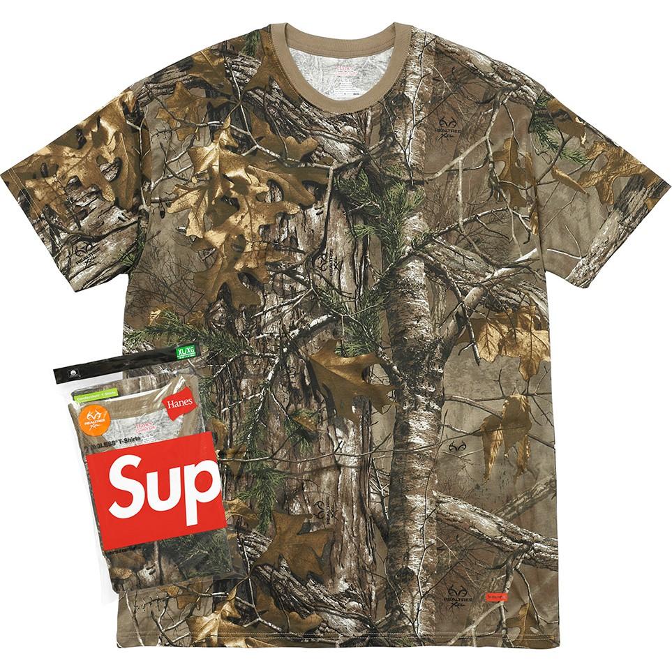 3c70ca1ab PS中壢Supreme X Hanes Realtree Tagless Tee 短袖衛衣落葉一包兩件| 蝦皮購物