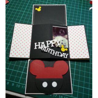 [預定]米奇驚喜卡,卡片禮物盒,機關卡片,生日禮物 新北市