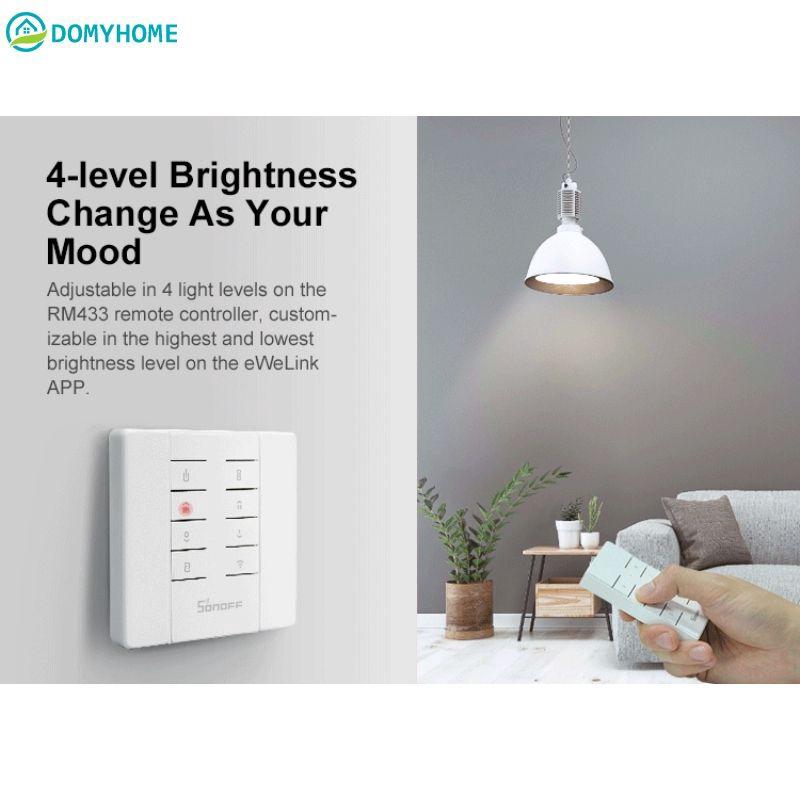 DO SONOFF D1 Wifi智能調光開關DIY智能家居迷你開關模塊調節燈光亮度APP / Voice / RM43