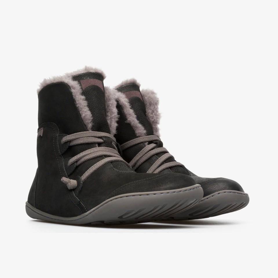Camper Peu Cami 寬楦頭女款毛裡平底休閒踝靴