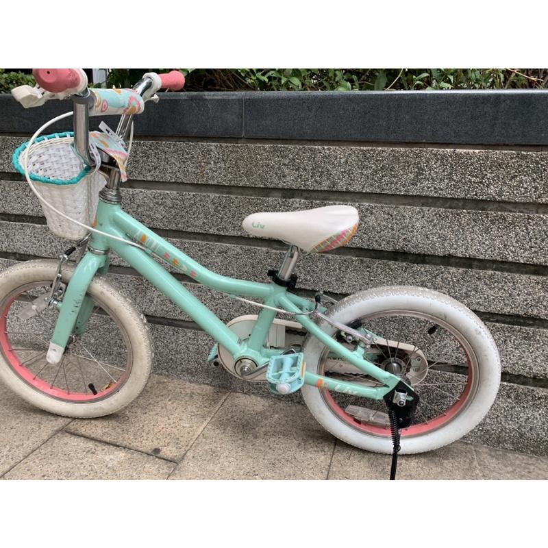 捷安特 ADORE 16吋兒童腳踏車/童車 綠色 二手 附腳架輔助輪