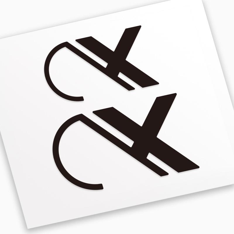 AX ax-lightness貼紙公路車山地車架輪組輪圈把立座管座桿款式1
