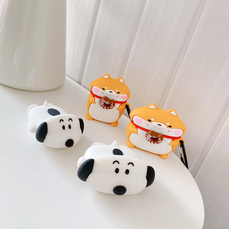 史努比 柴犬 秋田犬 造型 Airpods 1/2代 Pro 保護套 矽膠 耳機套 保護殼 耳機收納盒