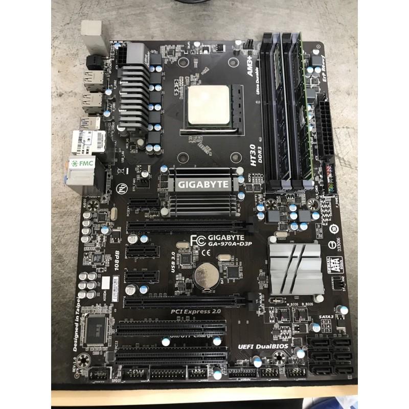 [高雄面交] 技嘉 GIGABYTE GA-970A-D3P + AMD FX 6300 + 原廠風扇 + 擋板