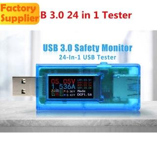 24 合 1 測試儀 Usb 3.0 電壓電流功率表斷電保護顯示器