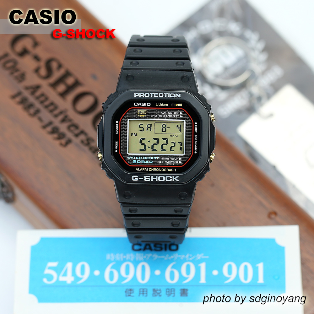 CASIO G-SHOCK DW-1983-1 10周年限定方塊1993年DW-5000 全新結束