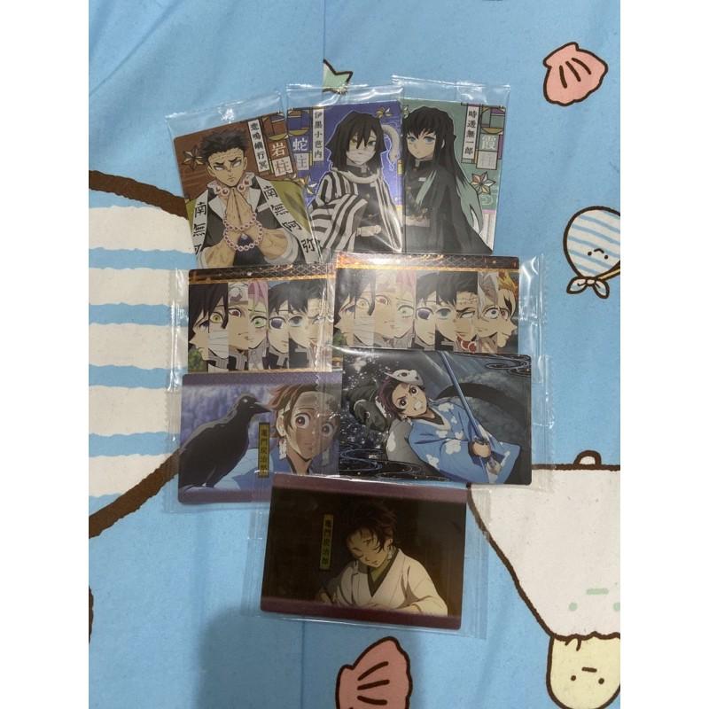 鬼滅之刃 威化餅 巧克力 食玩卡 卡片 小卡 閃卡 餅卡 第一彈 第二彈 日本正版 三段變化卡 禰豆子 炭治郎 胡蝶忍