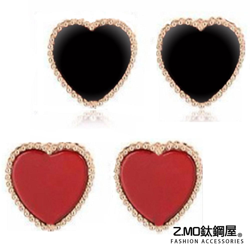 女性耳環 Z.MO鈦鋼屋 愛心耳環 兩色可選 白鋼耳環 鍍玫瑰金色 小資女孩必備 氣質迷人 交換禮物送禮【AJS077】