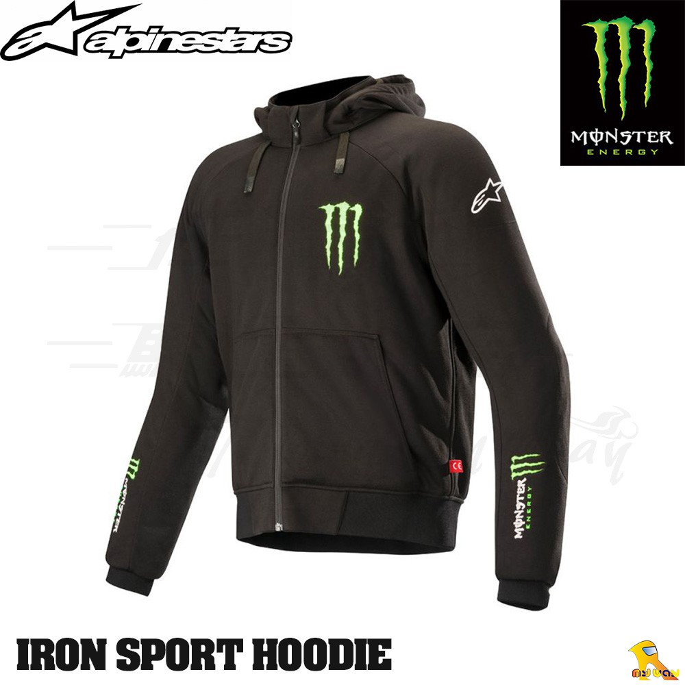任我行騎士部品 Alpinestars Monster IRON  HOODIE 鬼爪 聯名 防摔衣 A星 #2XL