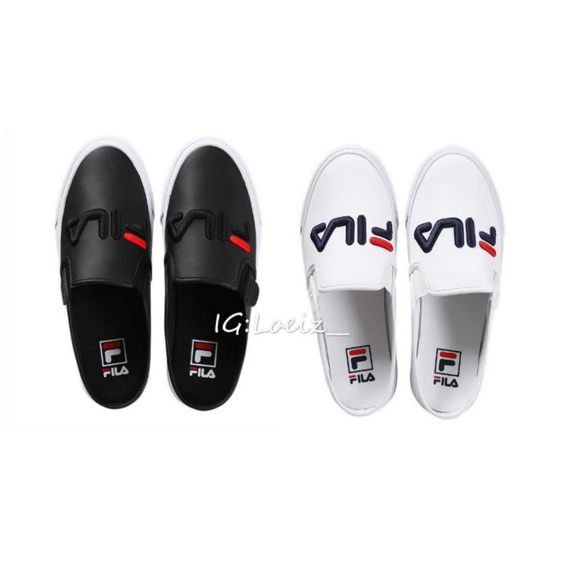 💐LOEIZ💐 韓國代購 FILA Mule  皮革  懶人鞋  穆勒鞋  拖鞋