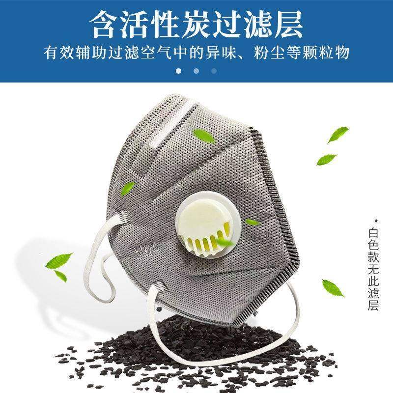 正品3M KN95口罩帶呼吸閥頭戴式含活性炭七層厚防塵工廠防護工人勞保口罩