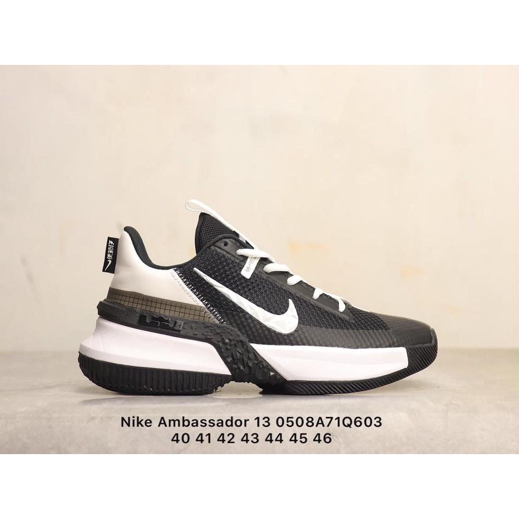 耐吉Nike Ambassador 13 使節13 黑白 白底白鉤