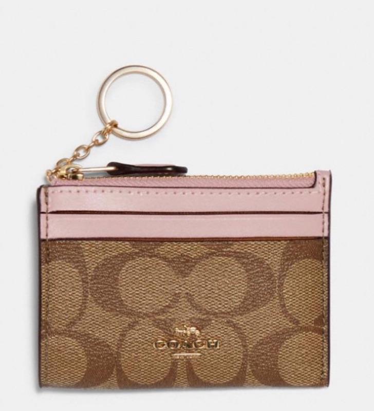Coach 卡片零錢鑰匙包/粉色logo/黑色logo 現貨在台