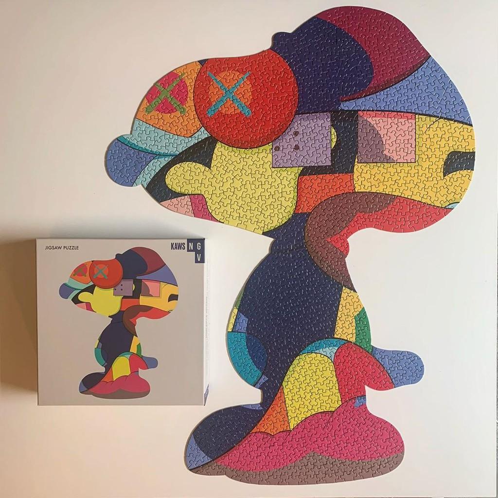 海外代購mand kaws ngv snoopy jigsaw puzzle 限定史努比潮流拼圖1000片
