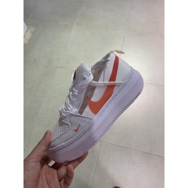 NIKE COURT VISION ALTA TXT 白 橘 厚底 女鞋 CW6536-101