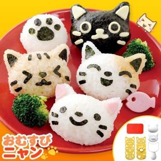 🔺現貨特價🔺日本ARNEST 貓咪飯糰 造型壓飯模/ 飯糰壽司模具(附海苔切割器) 便當 野餐 露營 飯糰 高雄市