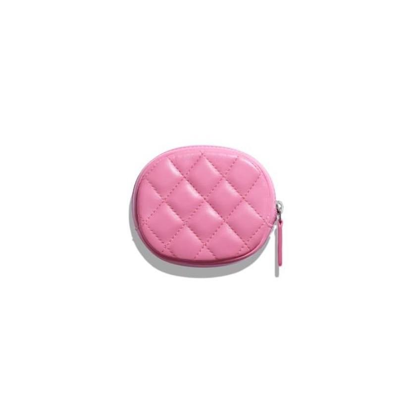 香奈兒 Chanel 小香 經典款 拉鏈 零錢包 A68995 粉色