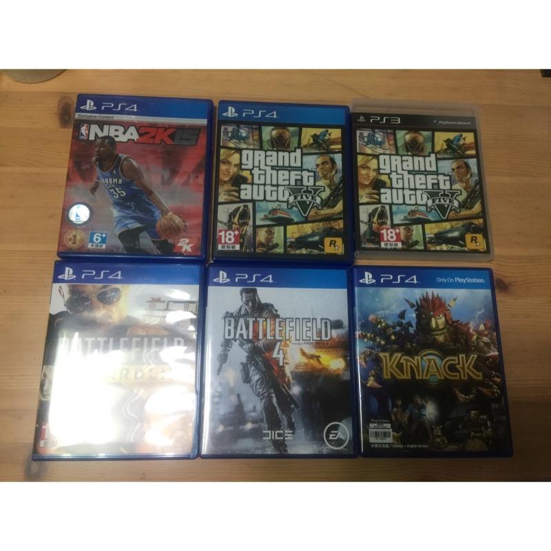 二手PS4 PS3遊戲光碟 GTA 4 5 Battlefield4 神秘海域1 Makuna Hatata 實感賽車7