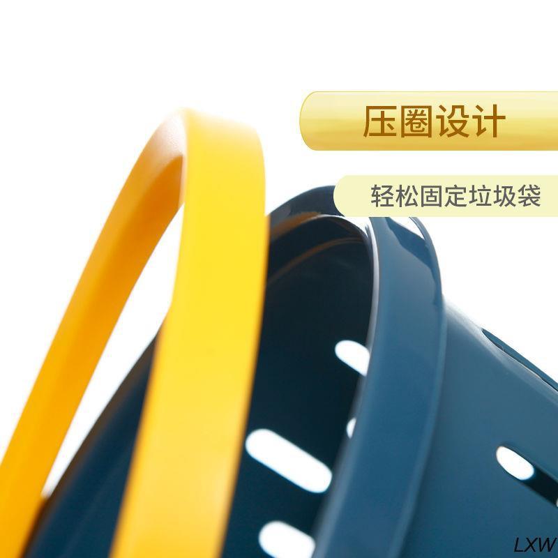 【熱銷】禧天龍塑料垃圾桶家用時尚創意宿舍無蓋壓圈紙簍衛生間大號收納桶