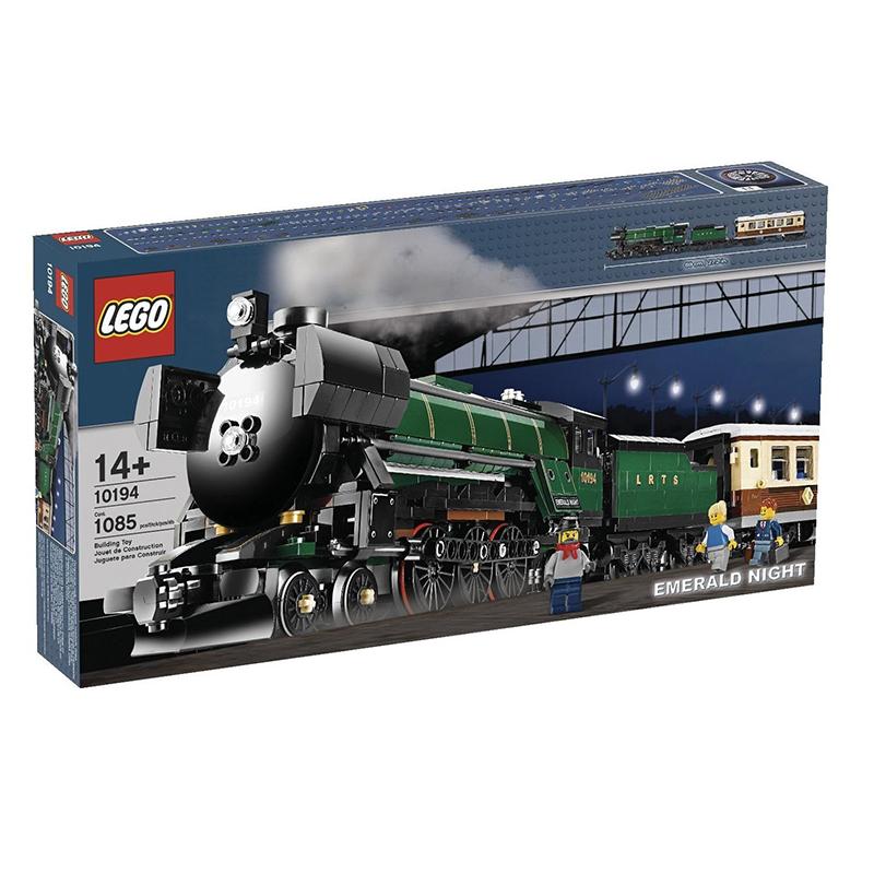 新產品LEGO樂高積木翡翠之夜蒸汽火車旅客列車10194聖誕禮物玩具21005