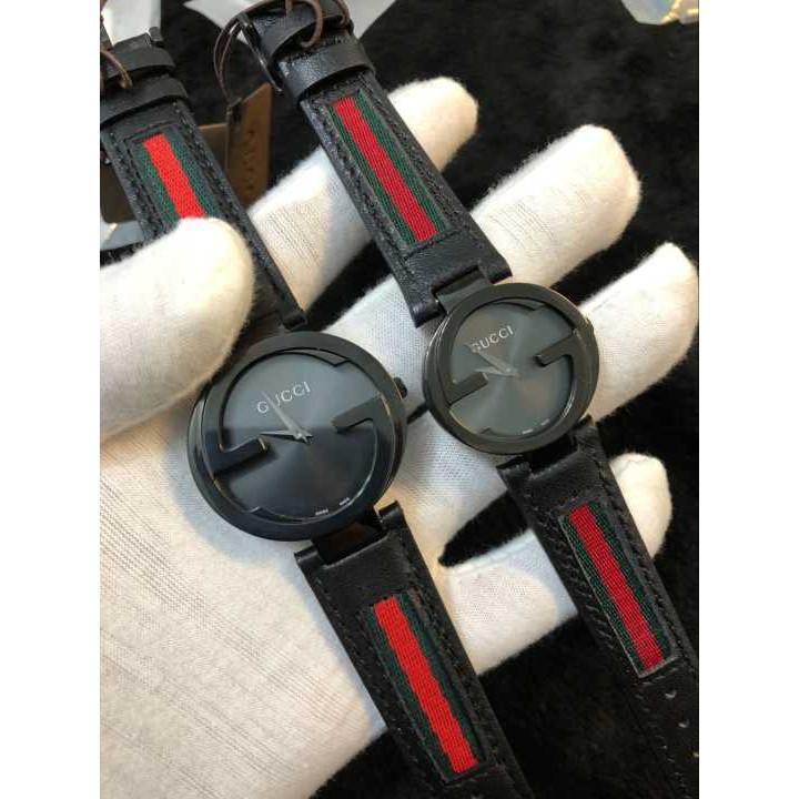 熱賣 實拍 Gucci 古馳 情侶款精品對錶 男女石英手錶