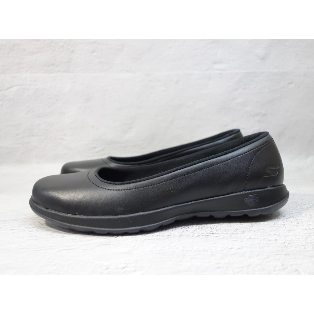 [麥修斯]SKECHERS GO WALK LITE 休閒鞋 上班族 皮革 輕量 好走 黑 女款 16371BBK