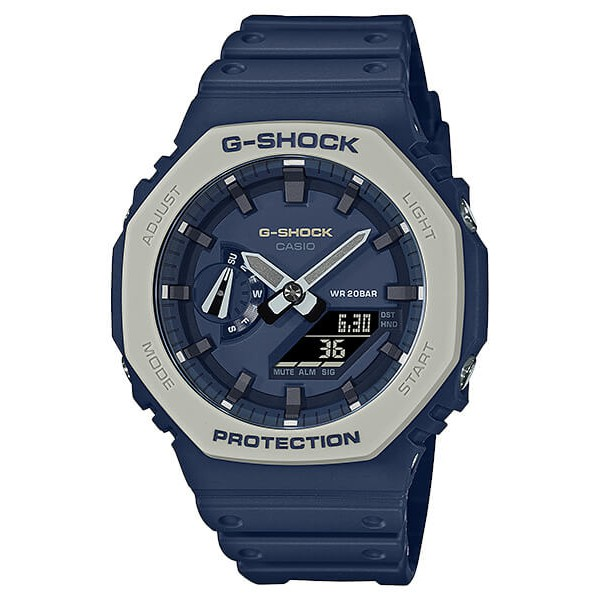 CASIO卡西歐 G-SHOCK 簡約獨特 海軍藍 八角型錶殼 GA-2110ET-2A_45.4mm  (小AP)