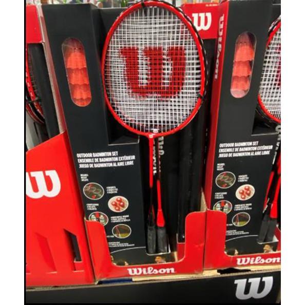 WILSON BADMINTON SET 雙打羽球套組含攜帶式綱架 球拍、羽球及杯架 C2621041
