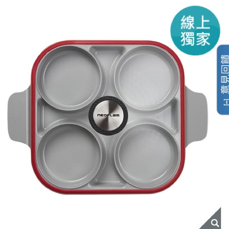 Neoflam 雙耳四格多功能煎鍋含蓋 28 公分 好市多 costco