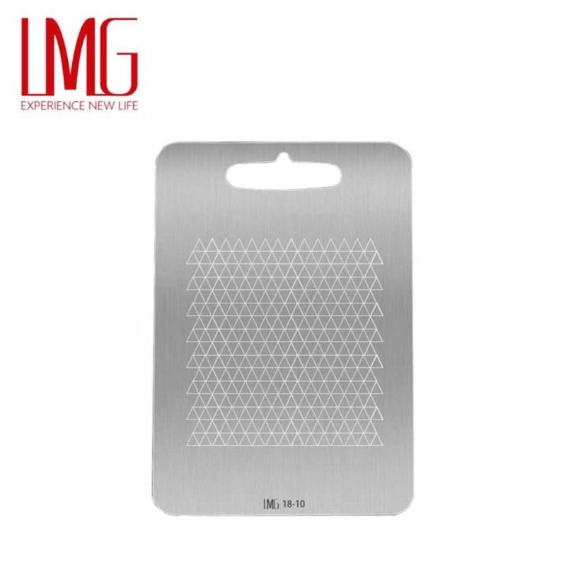【典藏五金生活百貨】LMG316不鏽鋼砧板 獨家防滑紋抗菌砧板 不銹鋼砧板
