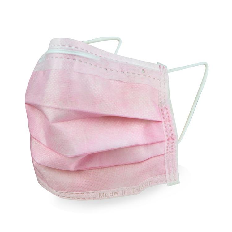 """格安德 台灣製造口罩國家隊""""雙鋼印""""醫療級成人平面口罩 粉色"""
