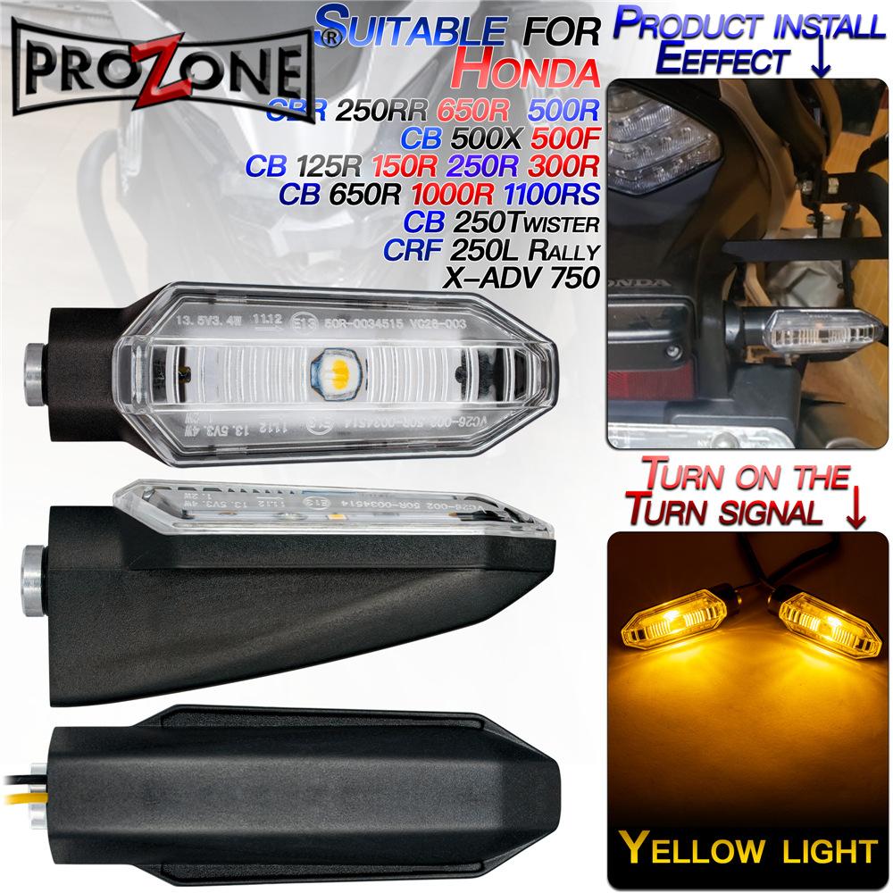 機車車燈 機車燈 適用於本田CB500/CBR250RR/CBF/X-ADV本田摩托車LED轉向信號燈 重機 機車方向燈