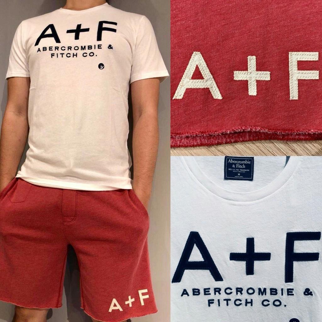 A&F 春夏新款短袖LOGO T-shirt Abercrombie & FITCH