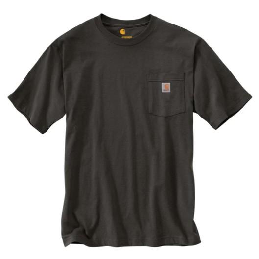 CARHARTT - K87 306 美線 Pocket Tee 口袋 短T 素T (泥炭灰 306) 化學原宿