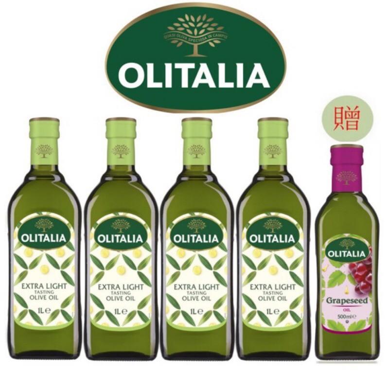 代訂momo購物4402273 Olitalia 奧利塔 精緻橄欖油1000mlx4 瓶 贈 葡萄籽油 500mlx1瓶