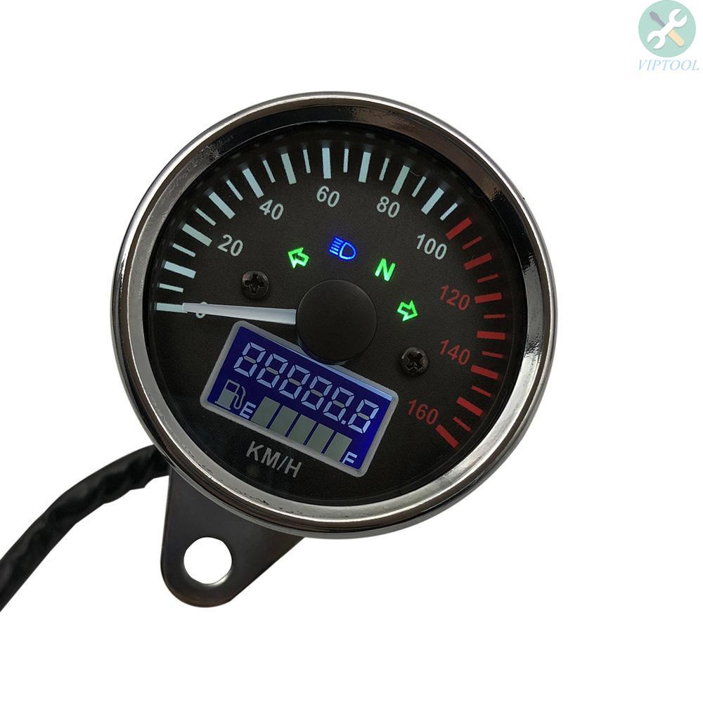 [TOP]Universal 12V Motorcycle Speedometer LED Digital Tachom