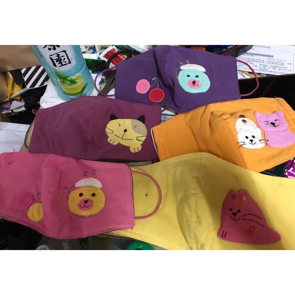 卡通布口罩(便宜賣)(款式隨機出貨)