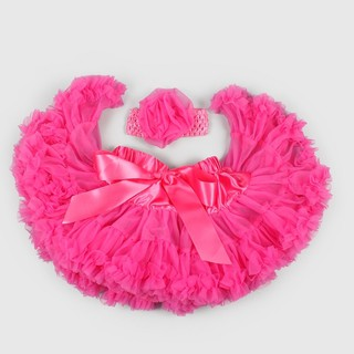 LaChamade 日安朵朵女嬰童雪紡蓬蓬裙 - 桃紅芭比 新北市