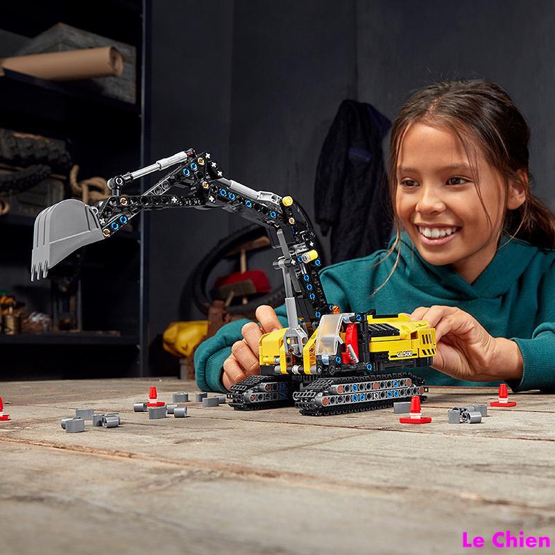 Le Chien-LEGO樂高科技機械組42121重型挖掘機男女孩益智拼搭積木玩具禮物