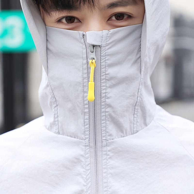機能防護夾克 機能防護外套 夏季防曬衣男女款皮膚衣風衣透氣防曬服情侶學生夾克釣魚服外套