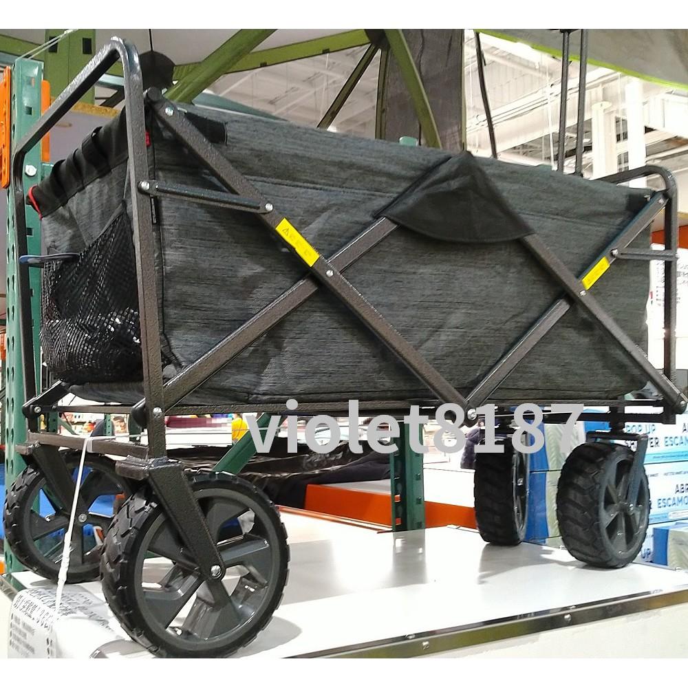 Mac Sports 寬胎折疊式拖車 購物車 野餐車手推車 戶外折疊裝備拖車[好市多代購刷卡]Folding Wagon