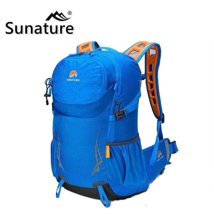 〈山峪戶外〉35L 超輕化 網架 Sunature 登山背包 水袋背包 後背包 旅行包 自行車 登山包 8647
